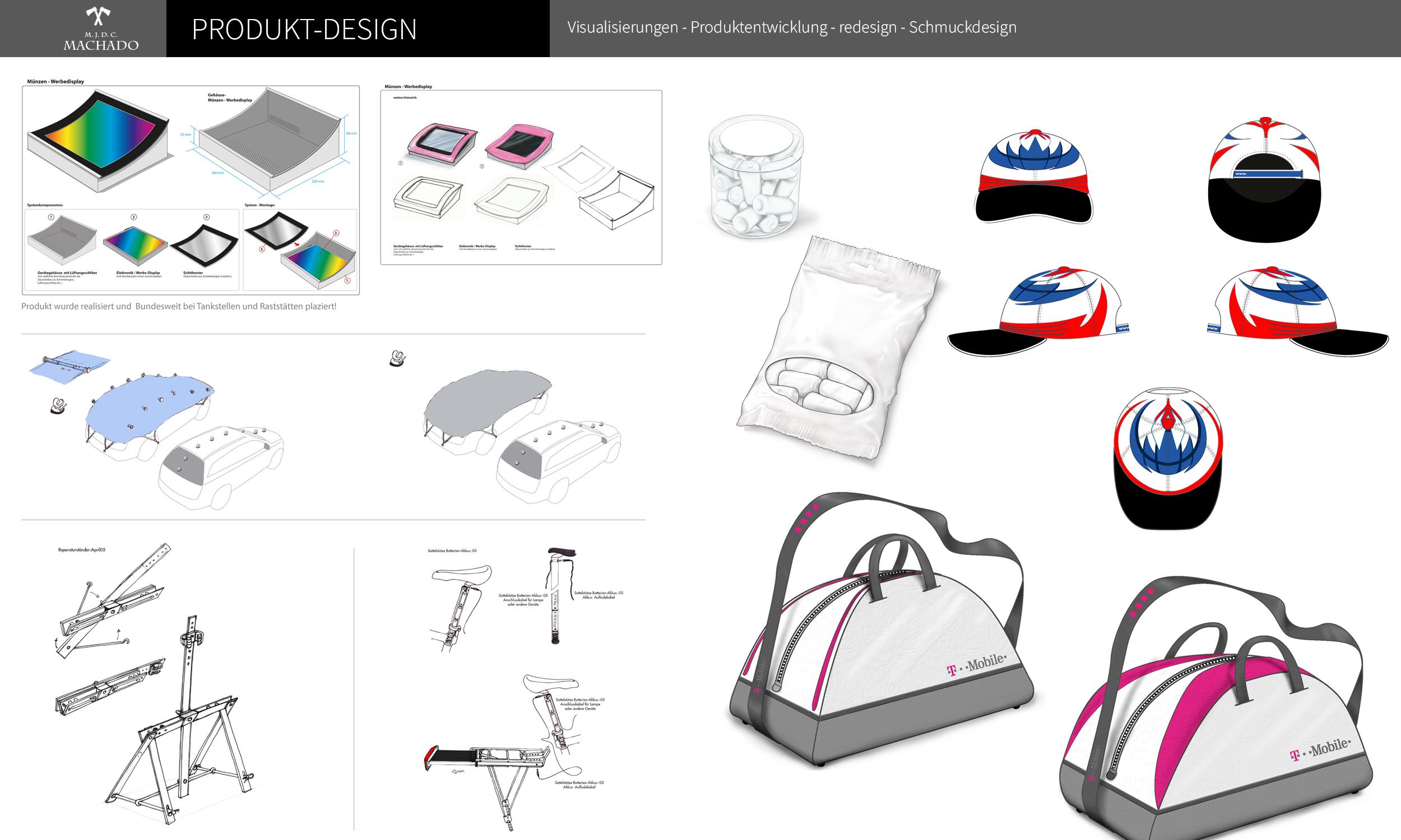 Eine Auswahl aus dem Bereich Produktdesign